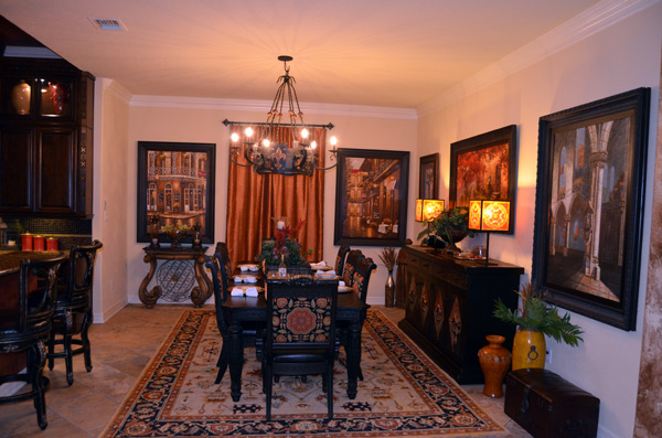 The elegant and spacious dining room
