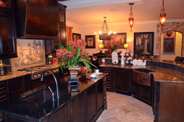 Catrina designed the beautiful kitchen