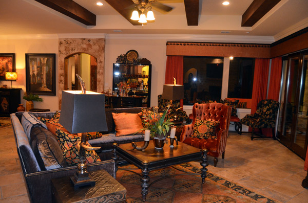 The fabulous Living Room is furnished by Catrina's Ranch Interiors