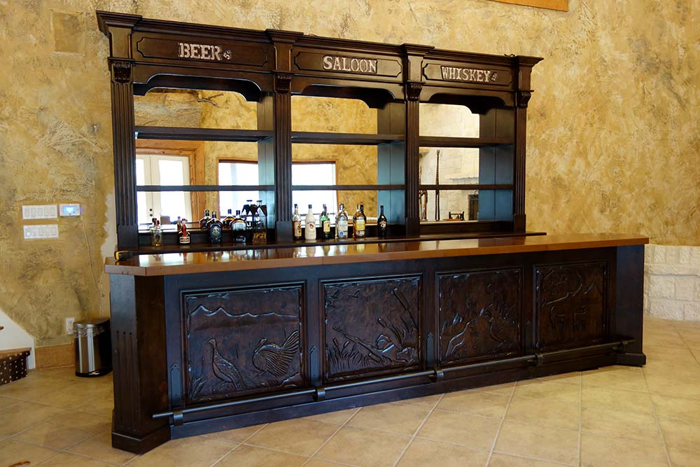 Ranch House Game and Trophy Room Saloon Bar designed by Catrina's ...