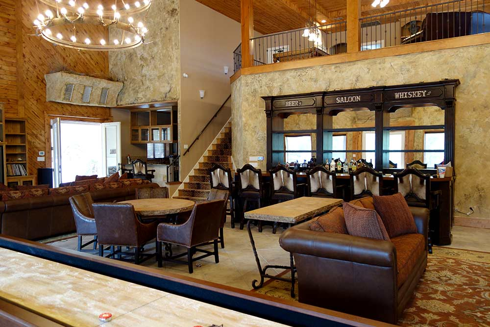 Catrinau0027s Ranch Interiors, Ranch House Designs, Sectionals, Saloon Bar,  Tables And Chairs
