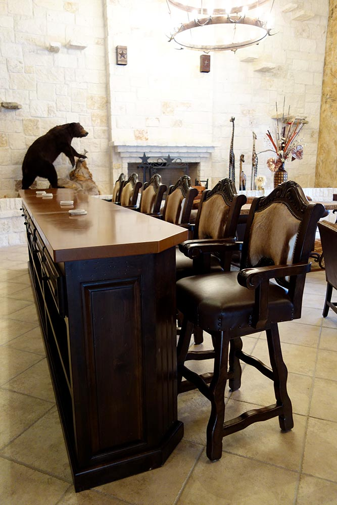 Texas leather san antonio ranch houses rustic furniture