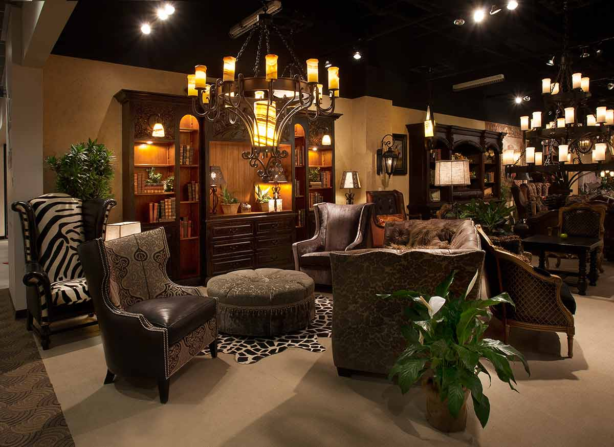 Chandeliers And Texas Hill Country Leather Furniture