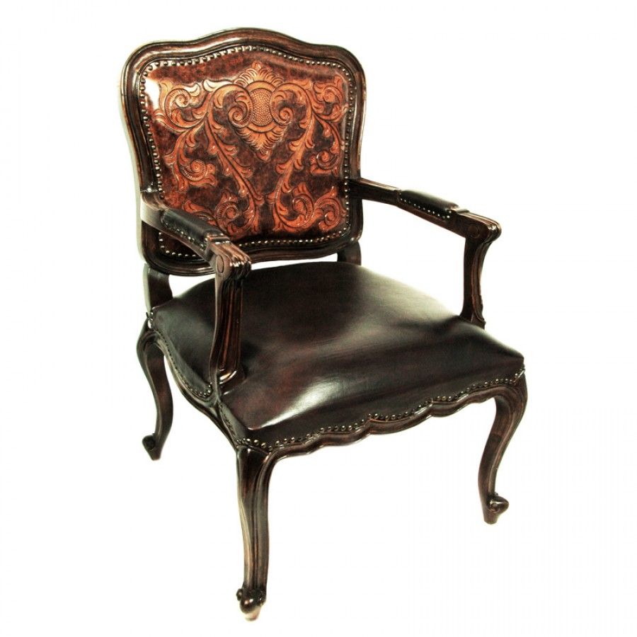 Western furnishings antlers san antonio leather upholstery for Armchair builder